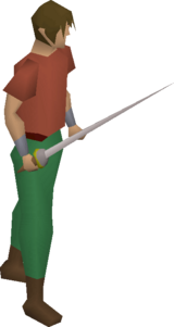 Rapier equipped.png