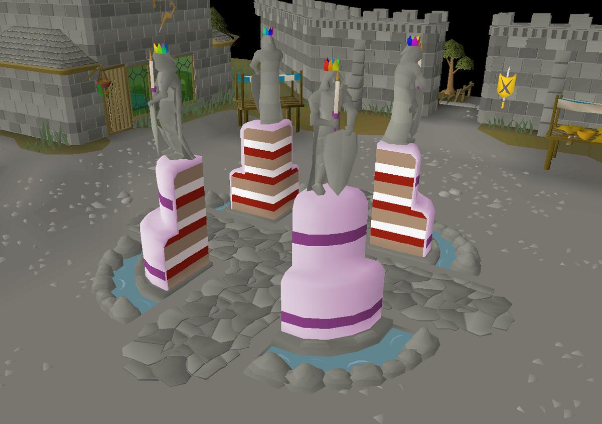 Fabulous Birthday Cake Mobile Anniversary Osrs Wiki Funny Birthday Cards Online Aeocydamsfinfo