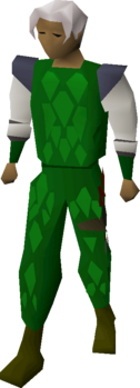 Green d'hide armour equipped.png