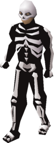 A player wearing the skeleton outfit.