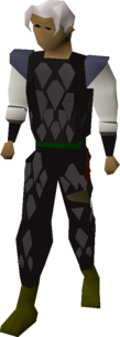 Black Dragonhide Body Equipped