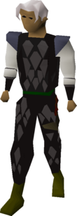 A player wearing Black d'hide armour.