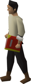 Player wielding an unholy god book.