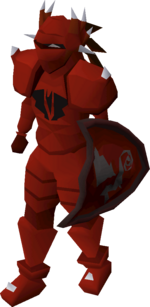 A player wearing dragon platelegs