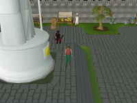 Cryptic clue - dig centre Kourend statue.png