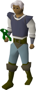 A player wielding magic secateurs