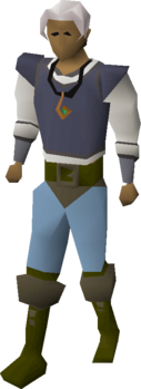 A player wearing a 3rd age amulet