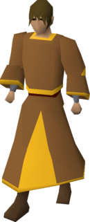Gold-trimmed monk's robes equipped.png