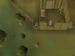 Emote clue - wave south fence lumber yard.png