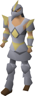 A male player wearing Armadyl armour.