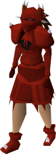 A player wearing a dragon plateskirt.