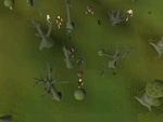Emote clue - panic haunted woods.png
