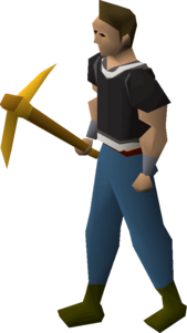 Gilded pickaxe equipped.png