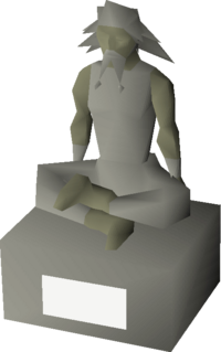 A statue depicting Guthix.