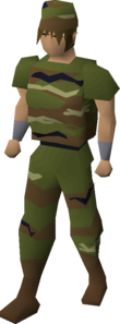 A player wearing the full Camo outfit