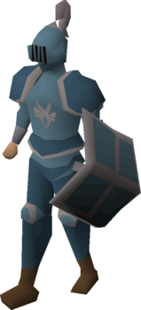 A player wearing an Armadyl full helm.