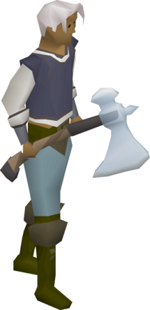 Crystal axe equipped.png