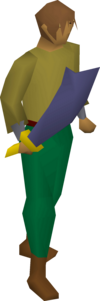 A player wielding a Mithril scimitar.
