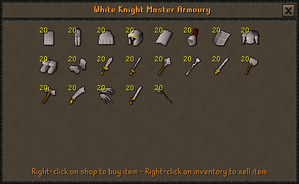 White equipment - OSRS Wiki