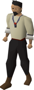A player wearing an amulet of fury.