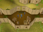 Emote clue - kiss shilo village.png