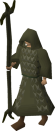 A player wearing Ahrim's robes.