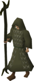 A player wearing Ahrim the Blighted's robes.