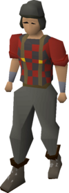 A player wearing the Lumberjack outfit.