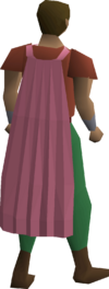 A player wearing a Fremennik pink cloak.