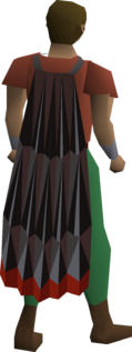 A player wearing an obsidian cape.
