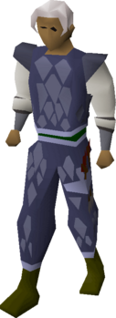 A player with a D'hide chaps (t) equipped