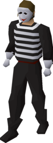 A player wearing the Mime outfit.