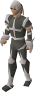 A player wearing skeletal robes.
