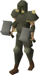 A player wearing Torag's armour.