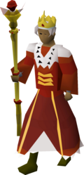 A player wearing the royal outfit.