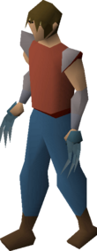 A player wielding rune claws