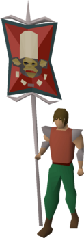 A player wielding the Western banner 2