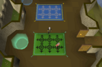 Emote clue - yawn castle wars lobby.png